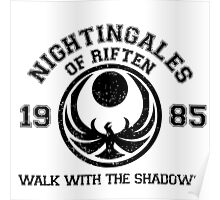 Nightingales of Riften - Jersey Style (Black) Poster