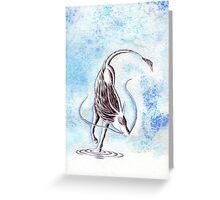 Elemental Water Qilin Greeting Card