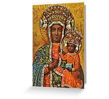Our Lady of Czestochowa, Black Madonna Poland, Virgin Mary and Child Jesus Greeting Card