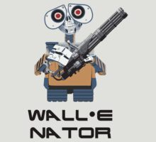 WALL E nator (WALL E + The Terminator mashup) T-Shirt