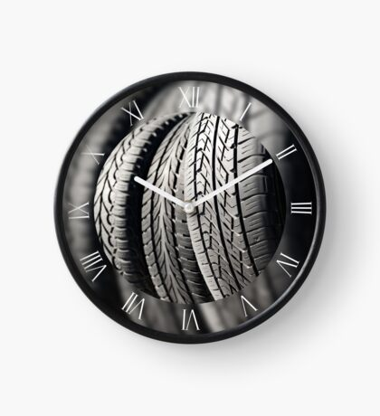 Group of used tires Clock