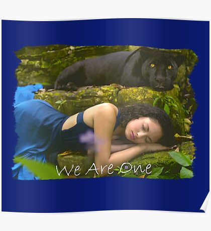 WE ARE ONE (Sleeping Lady and Black Leopard) Poster