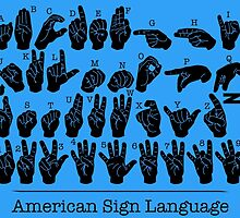 American Sign Language Chart - Blue version by FinlayMcNevin