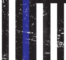 Blue Lives Matter Flag Distressed Sticker