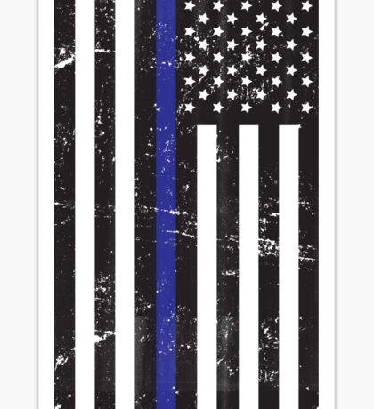 Blue Lives Matter Flag Distressed Sticker