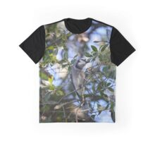 Bluejay on Branch Graphic T-Shirt