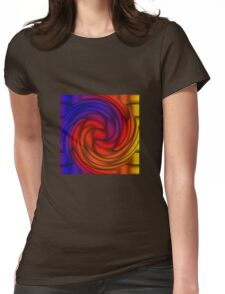 Turbine Gradient - Purple | Blue | Red | Orange | Yellow | Black Womens Fitted T-Shirt