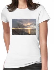A Slash in the Clouds Just in Time for Sunrise Womens Fitted T-Shirt