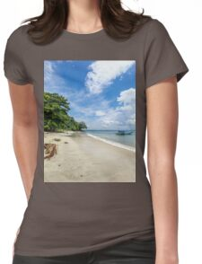 Indonesian Beach Womens Fitted T-Shirt