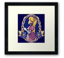 Stained-Glass Peach Framed Print