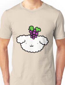 Grapes Fluffy Dog Face Unisex T-Shirt
