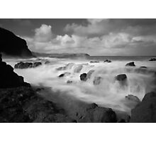 The Clash of Land and Sea Photographic Print