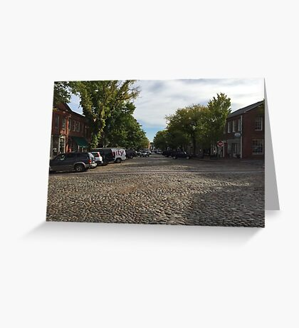 Main Street Cobble Stones Greeting Card
