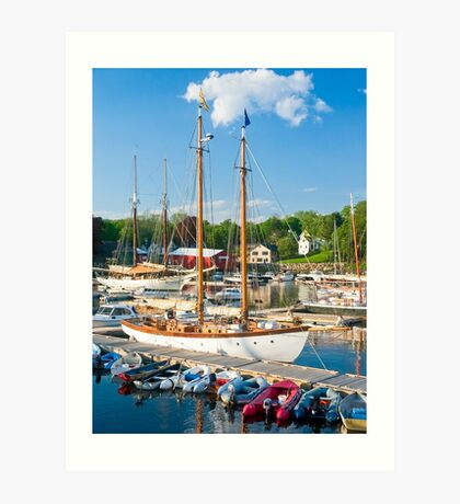 Harbor at Camden, Maine Art Print