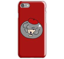 Silver Haired Lady Face iPhone Case/Skin