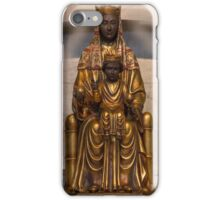 Our Lady of Montserrat, Virgin Mary Statue, Blessed Mother, Catholic Art iPhone Case/Skin
