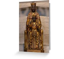 Our Lady of Montserrat, Virgin Mary Statue, Blessed Mother, Catholic Art Greeting Card