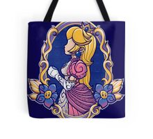 Stained-Glass Peach Tote Bag