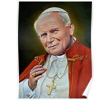 Pope John II, St. John Paul II Portrait, Religious Catholic wall art Poster