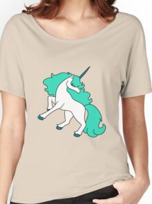 Blue-Green Haired Unicorn Women's Relaxed Fit T-Shirt