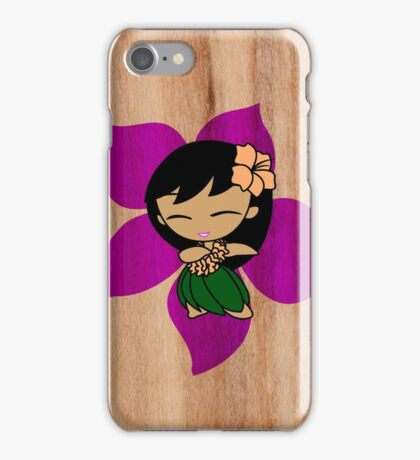 Aloha Honeys Hawaiian Hibiscus Hula Girl - Violet iPhone Case/Skin