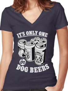 Beer shirts for men funny Women's Fitted V-Neck T-Shirt