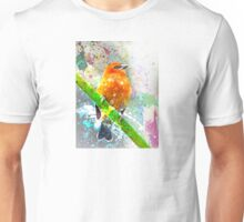 Vibrant Watercolor Bird [0.1] Unisex T-Shirt