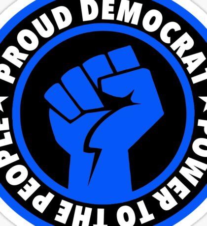 Proud Democrat Blue Sticker