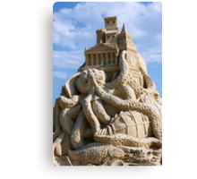 Sand Sculpture ~ a Tribute to Jules Verne Canvas Print