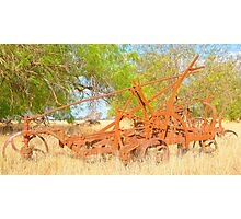 Rusted Old Plough.....  Photographic Print