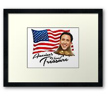America's National Treasure - Black Text Framed Print