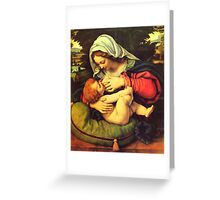 Madonna and Child, Virgin Mary Painting by Solario Greeting Card