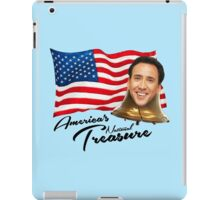 America's National Treasure - Black Text iPad Case/Skin