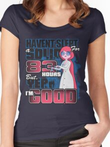 Sleepless in the Candy Kingdom Women's Fitted Scoop T-Shirt