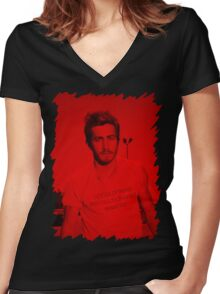 Jake Gyllenhaal - Celebrity Women's Fitted V-Neck T-Shirt