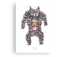 MEGA CAT LADY! Canvas Print