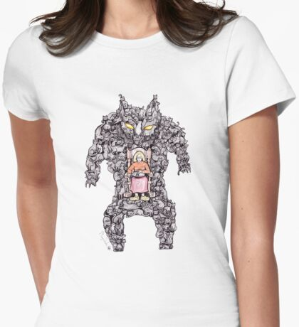 MEGA CAT LADY! Womens Fitted T-Shirt
