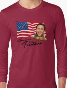 America's National Treasure - Black Text Long Sleeve T-Shirt