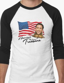 America's National Treasure - Black Text Men's Baseball ¾ T-Shirt