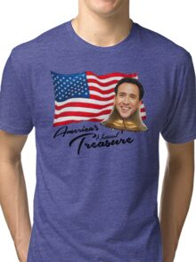 America's National Treasure - Black Text Tri-blend T-Shirt