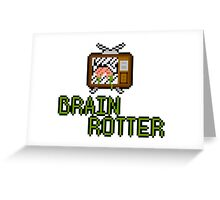 TV Brains! Greeting Card