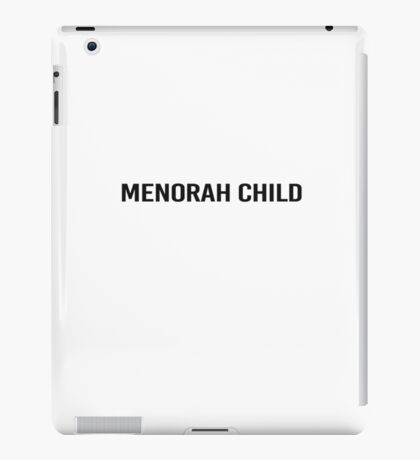 Menorah child iPad Case/Skin