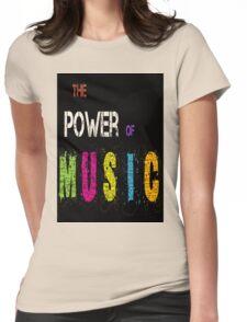 design art cartoon naruto music  Womens Fitted T-Shirt