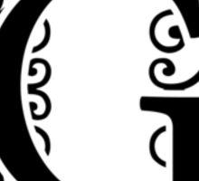 Letter G Monogram Sticker