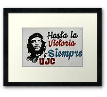 Communist propaganda with Che Guevara Framed Print