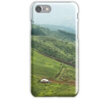 House in mountain valley iPhone Case/Skin