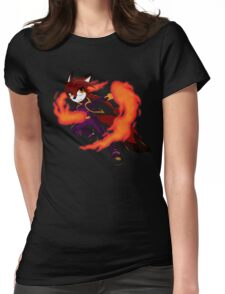 Fire Fox Spin Womens Fitted T-Shirt
