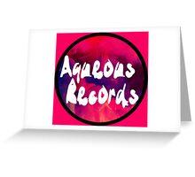 Aqueous Records Logo Greeting Card