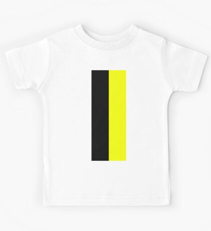 Black Yellow Kids Tee