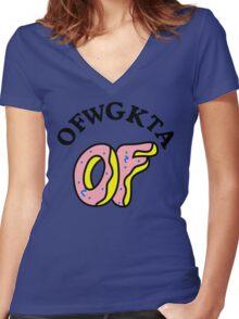 OFWGKTA Doughnut and Words Women's Fitted V-Neck T-Shirt